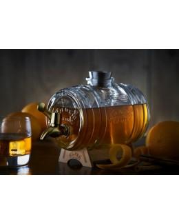 Dystrybutor-beczułka na alkohol 1000 ml mosiądz - KILNER