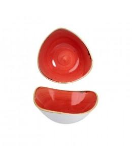 Misa trójkątna 0,6 l czerwona - CHURCHILL Stonecast Berry Red