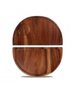 Deska drewniana 360 x 212 mm półokrągła - CHURCHILL