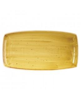 Talerz prostokątny 350 x 185 mm - CHURCHILL Stonecast Mustard Seed