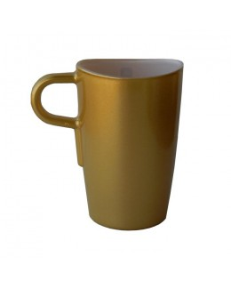 LO - Kubek do latte macchiato, złoty, Loop
