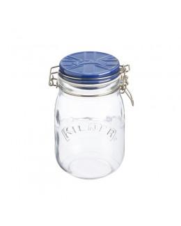 KIL- Słoik 1l z ceramiczną pokrywą, niebieski