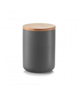 Pojemnik ceramiczny na przyprawy 600 ml z bambusową zakrywką Zeller