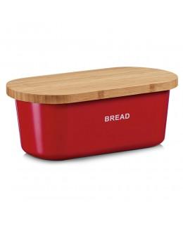 Chlebak z melaminy czerwony 36 x 20 cm Zeller