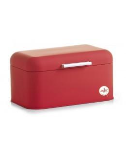 """Chlebak metalowy czerwony """"Soft Touch"""" 30,5 x 18,5 cm Zeller"""
