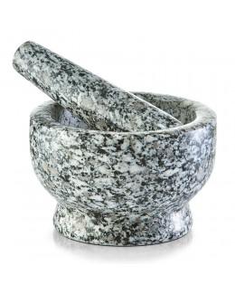 Moździerz granitowy szary 8 cm Zeller