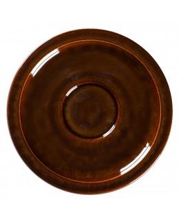 STONE Spodek do espresso 13 cm bursztynowy