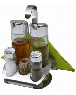 Zestaw przyprawników 7 elementów z serwetnikiem - AMBITION