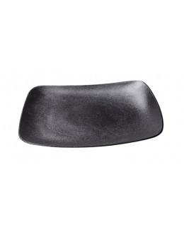 Talerz płaski kwadratowy z uniesionym rantem 300 mm czarny - ARIANE Dazzle Black