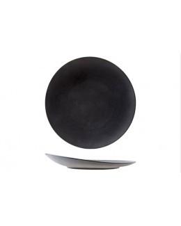 Talerz płaski z uniesionym rantem 150 mm czarny - ARIANE Dazzle Black
