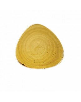 Talerz trójkątny 265 mm - CHURCHILL Stonecast Mustard Seed