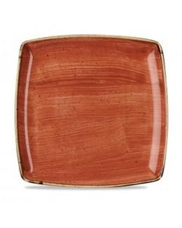 Talerz kwadratowy 268 mm pomarańczowy - CHURCHILL Stonecast Spiced Orange