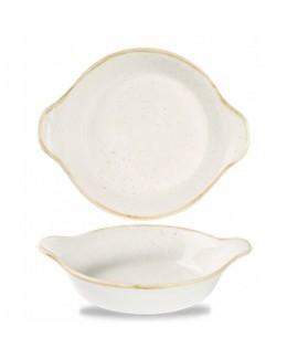Okrągłe naczynie z uszami 215 mm biały - CHURCHILL Stonecast Barley White