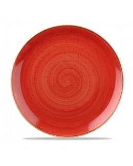 Talerz płytki 260 mm czerwony - CHURCHILL Stonecast Berry Red