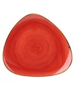 Talerz trójkątny 310 mm czerwony - CHURCHILL Stonecast Berry Red