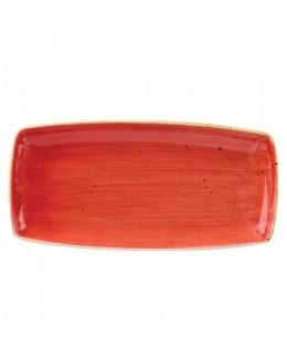 Półmisek prostokątny 350 x 185 mm czerwony - CHURCHILL Stonecast Berry Red