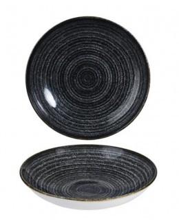 Talerz głęboki coupe 0,42 l - CHURCHILL Homespun Style Charcoal Black