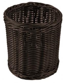Okrągły koszyk polirattanowy na sztućce - AMBITION Sante