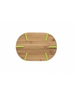Deska do krojenia / podstawka z silikonowymi nóżkami AMBITION Greta 33 x 23 x 2 cm owalna