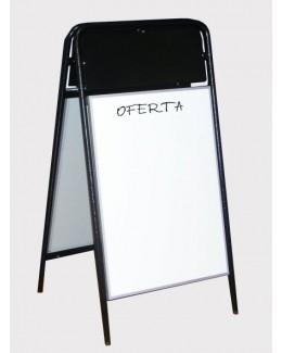 Potykacz stalowy z tablicą magnetyczno - suchościeralną 129 cm