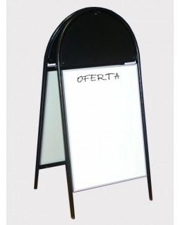 Potykacz stalowy z tablicą magnetyczno - suchościeralną 128 cm