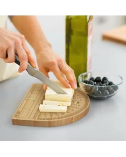 Bambusowa deska do sera z kątomierzem i linijką - FRED