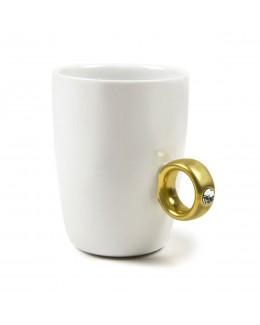 Kubek z pierścionkiem biały - INVOTIS