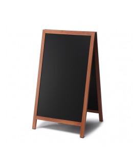 Potykacz z drewna z nadstawką 60 x 100 cm - dwustronny