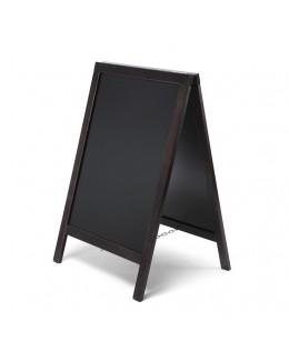 Potykacz drewniany ECONOMY 55 x 85 cm - czarny
