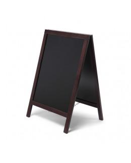 Potykacz drewniany ECONOMY 55 x 85 cm - ciemny brąz