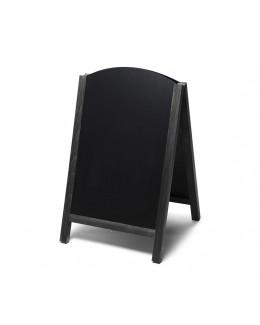 Potykacz drewniany dwustronny Fast Switch 55 x 85 cm - czarny