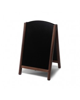Potykacz drewniany dwustronny Fast Switch 55 x 85 cm - ciemny brąz