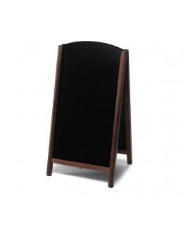 Potykacz drewniany dwustronny Fast Switch 68 x 120 cm - ciemny brąz