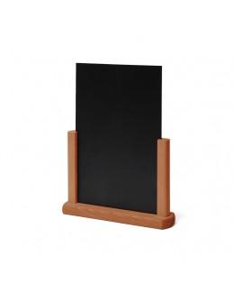 Dwustronny drewniany stojak na menu A4 - jasny brąz