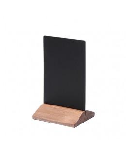 Dwustronny drewniany stojak na menu 100 x 160 mm ECO - jasny brąz