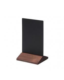 Dwustronny drewniany stojak na menu 100 x 160 mm ECO - ciemny brąz