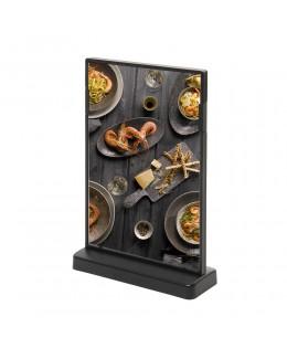 Czarny stojak na menu SCRITTO 148 x 210 mm
