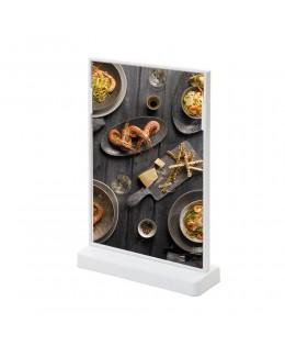 Biały stojak na menu SCRITTO 148 x 210 mm