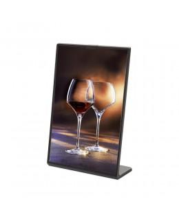 Czarny stojak na menu SCRITTO 105 x 148 mm