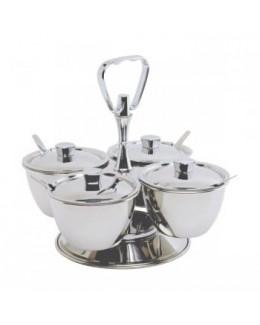 Obrotowe naczynie do serwowania na 3 pojemniki - GenWare