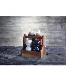 Pojemnik drewniany na przyprawy Dark Wood - GenWare