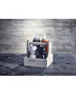 Pojemnik drewniany na przyprawy White Wooden - GenWare