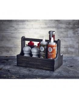Pojemnik drewniany na przyprawy Black Wash - GewWare