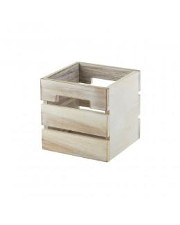 Skrzynka drewniana na przyprawy biała 15x15x15 cm - GenWare