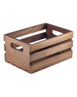 Pojemnik drewniany na przyprawy Dark Rustic 21,5 x 15 x 10,8 cm - GenWare