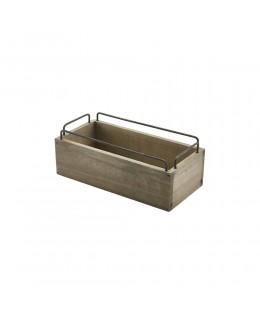 Skrzynka drewniana na przyprawy Industrial 25 x 12 x 9,5 cm - GenWare