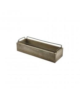 Skrzynka drewniana na przyprawy Industrial 34 x 12 x 9 cm - GenWare