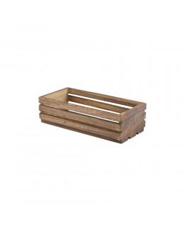 Drewniana skrzynia na przyprawy Dark Rustic 25 x 12 x 7,5 cm - GenWare