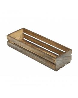 Drewniana skrzynia na przyprawy White Wash 34 x 12 x 7 cm - GenWare