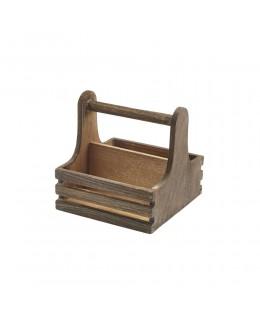 Skrzynka drewniana na przyprawy 15 x 15,3 x 15 cm - GenWare